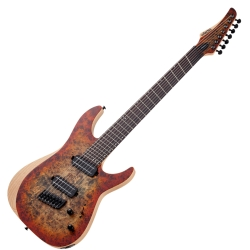 Schecter 1511-SHC Reaper-7 Multi-Scale RH 7-String Electric Guitar-Satin Inferno Burst