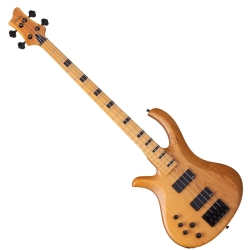 Schecter 2856-SHC Riot-4 Session LH 4-String Electric Bass-Aged Natural Satin