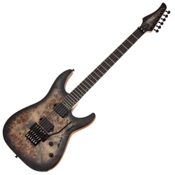 Schecter 3634-SHC C-6 FR PRO 6-String RH Electric Guitar-Charcoal Burst