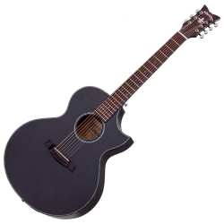 Schecter 3709-SHC Orleans Stage-7 RH 6-String Acoustic Electric Guitar-Satin See Through Black Finish