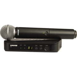 Shure BLX24/SM58 H10 Wireless Handheld System with SM58 Microphone
