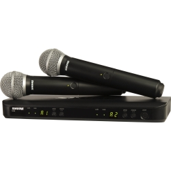 Shure BLX288/PG58-H10 Dual Diversity System with Two BLX2/PG58 Microphones