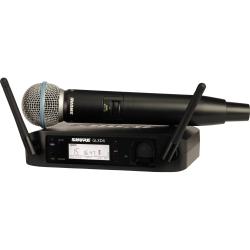 Shure GLXD24/B58-Z2 Wireless Handheld System with BETA58A Microphone