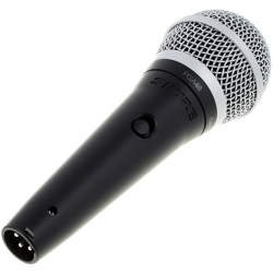 Shure PGA48-XLR PGA48 Cardioid Dynamic Microphone with Switch and XLR-XLR Cable
