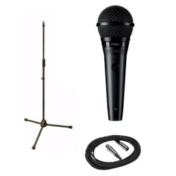Shure PGA58-BTS PGA58 Cardioid Dynamic Vocal Microphone and Mic Stand Package