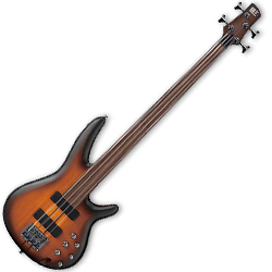 Ibanez SRF700-BBF SR Series 4 String Solid Body Bass in Brown Burst Flat