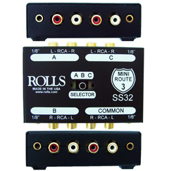 Rolls SS32 Mini Route 3 Passive Stereo or Mono Signal Switching Device