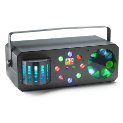 Stagg SLE-Trance50 Multi-Effects Box with Red and Green Lasers, Derby, Colour Wash and Flower Gobo-NOT CSA APPROVED