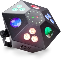 Stagg SLE-Trance60 Multi-Effects Box with Red and Green Lasers, Derby, 3 Colour Wash and Strobe and LED Flower-NOT CSA APPROVED