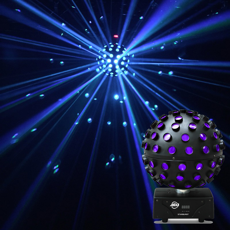 American DJ STARBURST RGBWA+Purple LED Mirror Ball Effect Light
