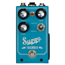 Supro 1310 Amplitude and Harmonic Tremolo & Drive Electric Guitar Effects Pedal