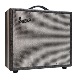 "Supro 1791 BLACK MAGICK 75-Watt 1x15"" Extension Guitar Cabinet"