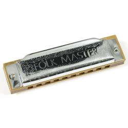 Suzuki SU-FM1072A  Folkmaster 10 Hole Diatonic Harmonica – Key of A