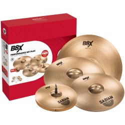 "Sabian 45003XG B8X 3-piece Performance Set with FREE 18"" Crash"