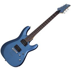 Schecter 431-SHC C-6 Deluxe Solid-Body 6 String Electric Guitar - Satin Metallic Light Blue
