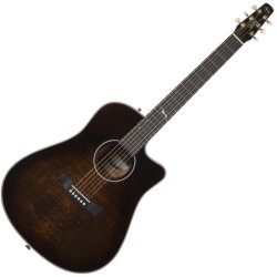 Seagull 047178 Artist Peppino Signature CW Bourbon Burst with Anthem Pickup 6 String RH Acoustic Guitar with Case