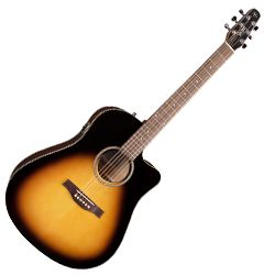 Seagull 040308 S6 CW Spruce Sunburst GT QIT 6 String Acoustic Electric Guitar