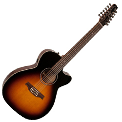 Seagull 042296 S12 Spruce Sunburst Concert Hall QIT 12 String Acoustic Electric Guitar