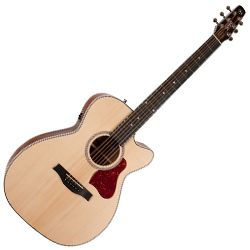 Seagull 046447 Maritime SWS Concert Hall CW QIT 6 String RH Electric Acoustic Guitar