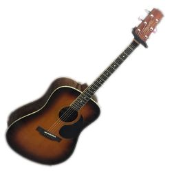Segovia D07G-TS 6 String Right Hand Dreadnaught Acoustic Guitar in Tobacco Sunburst Gloss