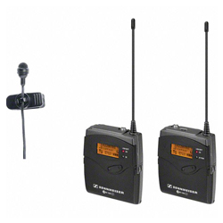Sennheiser EW122PG3-A High Quality Reporting Wireless Cardioid Clip-On Microphone (516-558 MHz)
