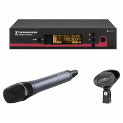 Sennheiser ew 165 G3-G Top-Notch Wireless Super-Cardioid Handheld Vocal Microphone Set (566-608 MHz)