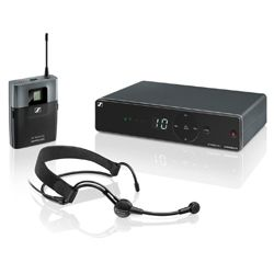 Sennheiser XSW 1-ME3-B Wireless Headmic Set with ME 3-II Headmic and EM XSW 1 Receiver (614-638 MHz)