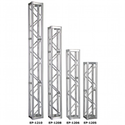 "Show Solutions EP1208 8' long, 12"" x 12"" square EP truss with bolts (discontinued clearance) demo unit 9.5 cond."