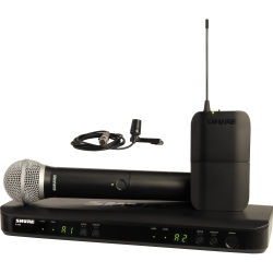 Shure BLX1288/CVL H9 Dual-Channel Wireless System with PG58 Handheld and CVL Lavalier Microphone