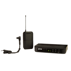 Shure BLX14/B98-H10 Instrument Wireless System with Clip-on Microphone (542.125 – 571.800 MHz)