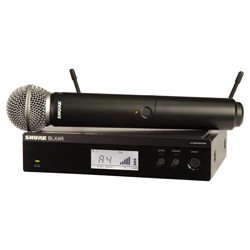 Shure BLX24R/SM58-H9 SM58 Handheld Wireless System (512.125 – 541.800 MHz)