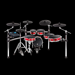 Alesis Strike Pro Kit Eleven Piece Professional Electronic Drum Kit with Mesh Heads