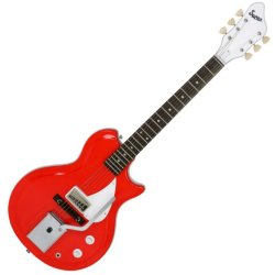 Supro 1572 VPR 2 - Semi-Hollow Electric Guitar Americana Series Belmont Vibrato - Poppy Red/Rosewood