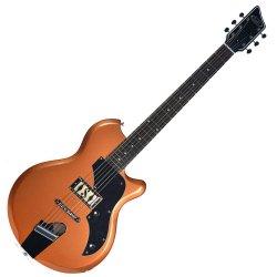 Supro 2010BZ Jamesport Right Hand 6 String Electric Guitar - Bronze Metallic