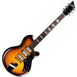 Supro 2030TS - Hampton Right Handed 6 String Electric Guitar - Tobacco Burst