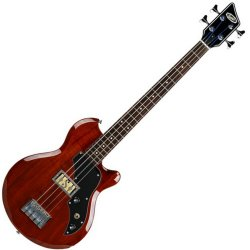 Supro 2041PMN Huntington I 4-String Electric Bass - Piezo Pickup - Natural Mahogany