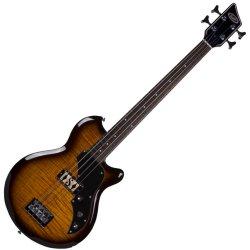 Supro 2041PTS Huntington I 4-String Electric Bass - Piezo Pickup – Flame Tobacco Burst