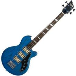 Supro 2043PTB Huntington III Transparent Blue - Piezo Bass Guitar