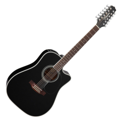Takamine EF381SC Legacy Series 12 String RH Dreadnought Acoustic Electric Guitar with Hard Case-Black