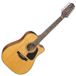 Takamine GD30CE-12NAT G-Series 12-String RH Dreadnought Acoustic Electric Guitar-Black