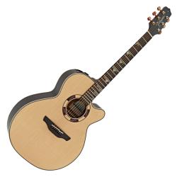 Takamine TSF48C Santa Fe Legacy Series 6 String RH NEX Acoustic Electric Guitar with Hard Case-Gloss Natural