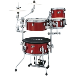 Tama CJP44C-CPM Cocktail-JAM 4-Piece Mini Kit with Cymbal Attachments -Candy Apple Mist