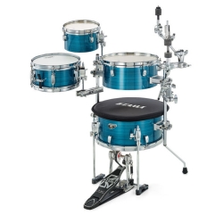 Tama CJP44C-HLB Cocktail-JAM 4-Piece Mini Kit with Cymbal Attachments -Hairline Blue