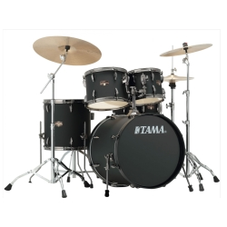 Tama IP50H6NB-BBOB Imperialstar 5-Piece Drum Kit with Hardware and Meinl Cymbals-Blacked Out Black