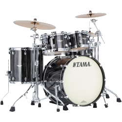 Tama MA42TZS-BCS Starclassic Maple 4-Piece Shell Pack-Black Clouds & Silver Linings