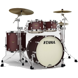 Tama MA42TZS-FBM Starclassic Maple 4-Piece Shell Pack-Flat Burgundy Metallic