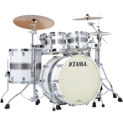 Tama MA42TZS-SSR Starclassic Maple 4-Piece Shell Pack-Silver Snow Racing Stripe