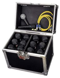 Road Ready RRM12S ATA Style Microphone Case for 12 Mics with Storage Compartment