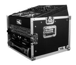 Road Ready RRM6U 10U Slant Mixer Rack 6U Vertical Rack System