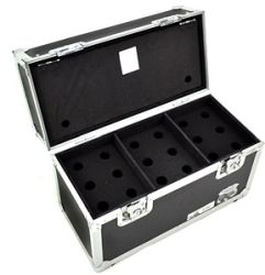 Road Ready RRM18S ATA Style Microphone Case for 18 Mics with Storage Compartment